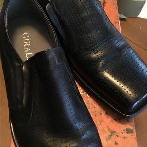 Men's black loafers slip on nib size 10
